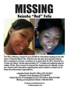 Keiosha Felix Missing Flyer
