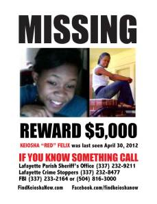 Keiosha Felix Reward Flyer